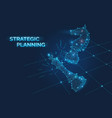 strategic planning banner with chess pieces vector image