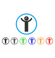 time boss rounded icon vector image vector image