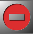 traffic sign dead end vector image vector image