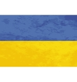 True proportions Ukraine flag with texture vector image vector image