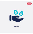 two color nature icon from ecology concept vector image vector image