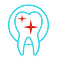 uneven tooth icon flat style vector image
