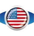 USA flag badge vector image vector image