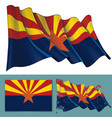 waving flag of the state of arizona vector image