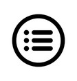 web menu icon concept buttons flat design vector image
