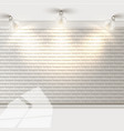 white brick wall with reflectors vector image