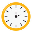 yellow clock on white background vector image vector image