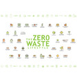 zero waste lifestyle poster contains 32 vector image vector image