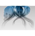 blue skull abstract vector image