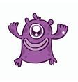 One eye monster cartoon design vector image