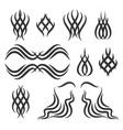 simple tribal tattoo elements vector image