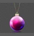 3d christmas ball isolated on background vector image