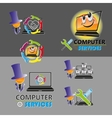 a set of logos for computer repair vector image vector image