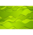 Abstract green curved waves lines