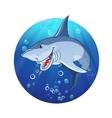 an evil shark vector image vector image