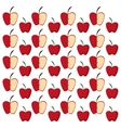 apples half fruit tasty seamless pattern vector image