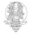 Aquarius zodiac sign coloring book vector image vector image