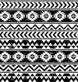 Aztec tribal seamless grunge white pattern vector image vector image