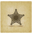 badge with star on vintage background vector image vector image
