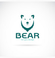 bear head design and letters on white vector image vector image