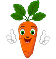 Cartoon Carrot Character giving thumbs up vector image vector image