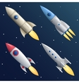 Cartoon Rocket Start Up Launch Symbol New vector image