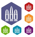 Cartridges icons set vector image vector image