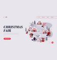 christmas market internet advertisement landing vector image vector image