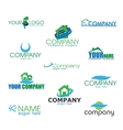 Collection of Eco Logotypes in vector image vector image