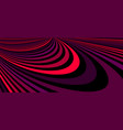 colorful red abstract lines psychedelic optical vector image vector image