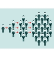 Concept of viral marketing with groups people vector image