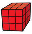 cube puzzle vector image