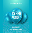 cyber monday poster trendy vector image vector image