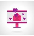Digital love bright flat icon vector image