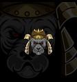 dog samurai mascot logo vector image
