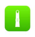 finger icon digital green vector image
