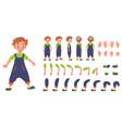 flat conceptual of redhead kid vector image