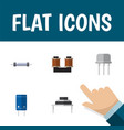 flat icon electronics set of destination resist vector image vector image