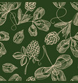 floral saint patricks day seamless pattern vector image