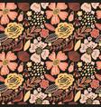 floral seamless pattern black colors autumn