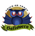 funny cartoon logo halloween owl flat poster vector image vector image