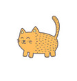 funny ginger fat cat cute feline character vector image