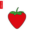 garden strawberry fruit or strawberries flat color vector image vector image