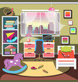 girls bedroom interior vector image vector image