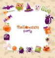 Greeting Card for Halloween Party with Colorful vector image vector image