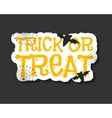 Happy Halloween trick and treat flyer template vector image