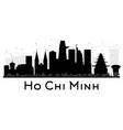 Ho Chi Minh City skyline silhouette vector image