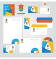 Identity corporative set design template about vector image vector image