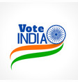 indian election banner with tri color flag vector image vector image