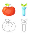 isolated object of and icon collection of vector image vector image